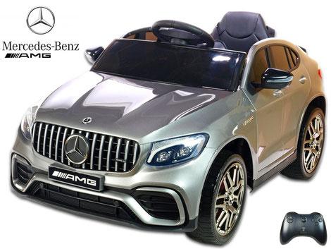 Mercedes/AMG GLC63 S/1 Sitzer/Kinderauto/Kinder Elektroauto/lizensiert/silber lackiert/