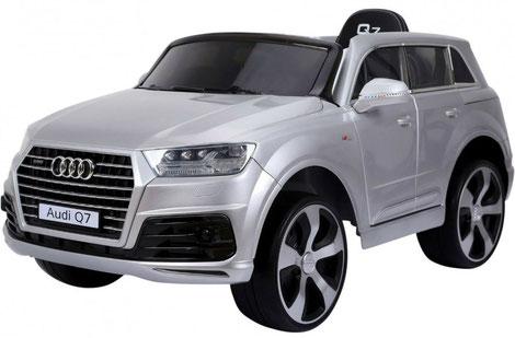 Audi Q7 2019/2x 45Watt/Kinderauto/Kinder Elektroauto/silber lackiert/lizensiert/