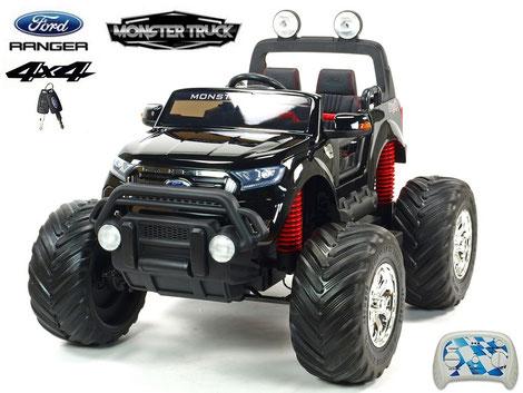 Ford Ranger/Monster Truck/Allrad/4WD/Kinderauto/Kinder Elektroauto/Kinder Auto/schwarz lackiert/lizensiert/