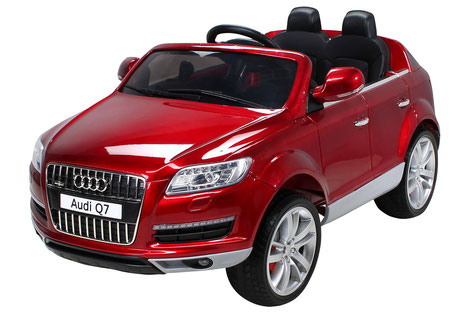 Audi Q7 SUV Doppelsitzer/Kinderauto/Kinder Elektroauto/Kinderautos/Kinder Elektroautos/Kinder Auto/weinrot lackiert/lizensiert/