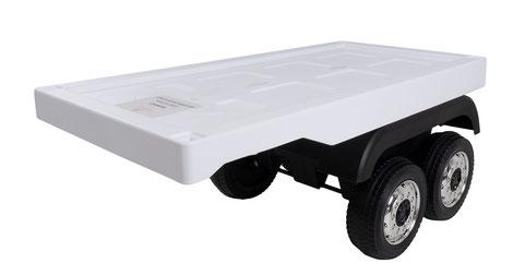 Mercedes/Actros/LKW/Anhänger/Auflieger/Trailer/Kinderauto/Kinder Elektroauto/weiß/