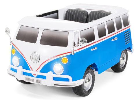 VW/VW Bus/ Bulli T1/Samba Camper/2-Sitzer/Kinderauto/Kinder Elektroauto/Kinderautos/Kinder Elektroautos/Kinder Auto/blau/lizensiert/