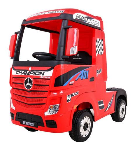 Mercedes/Actros/LKW/Sattelzugmaschine/2 Sitzer/Kinder LKW/Kinderauto/Kinder Elektroauto/lizensiert/rot/