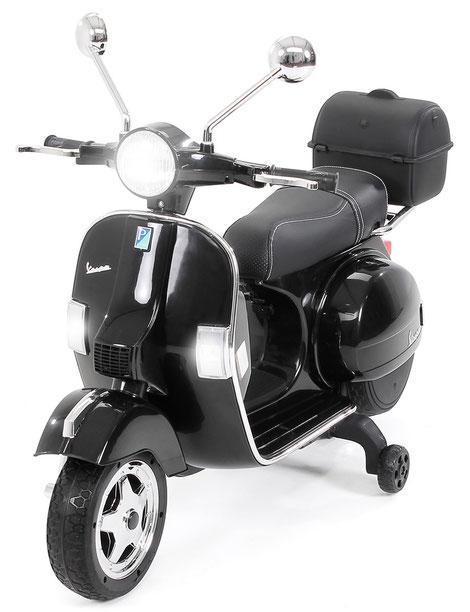 Vespa PX150/Kinder Elektroroller/schwarz/Kinder Motorrad/Kinder Motorräder/Kinderauto/Kinder Elektroauto/Kinderautos/Kinder Elektroautos/Kinder Fahrzeuge/