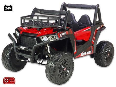 UTV Buggy XXL Super Muster 1000R/24V/Kinderbuggy/Kinderauto/Kinder Elektroauto/2 Sitzer/rot/