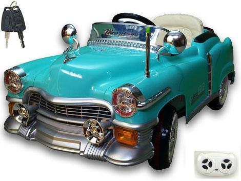 Kuba Retro/Kinderauto/Kinder Elektroauto/Kinderautos/Kinder Elektroautos/Kinder Fahrzeuge/hellblau/Kinder Auto/