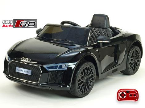 Audi R8 Spyder Sonderedition/2x 45Watt/Kinderauto/Kinder Elektroauto/schwarz lackiert/lizensiert/