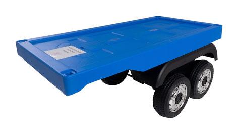 Mercedes/Actros/LKW/Anhänger/Auflieger/Trailer/Kinderauto/Kinder Elektroauto/blau/