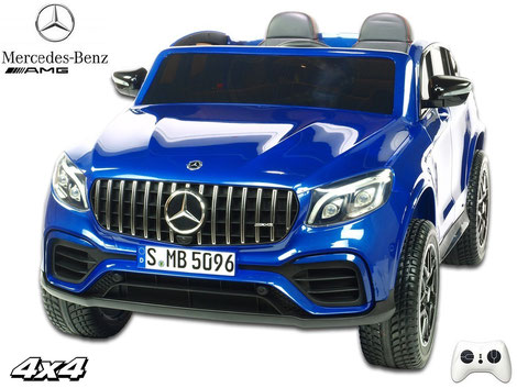 Mercedes/AMG GLC63 S/2 Sitzer/Kinderauto/Kinder Elektroauto/lizensiert/blau lackiert/