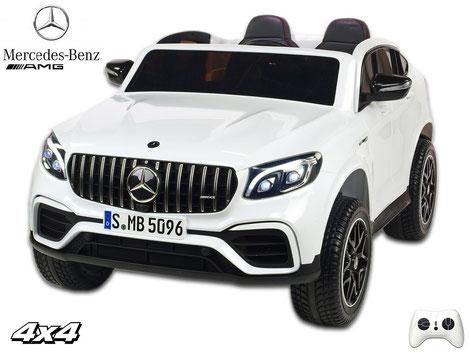Mercedes/AMG GLC63 S/2 Sitzer/Kinderauto/Kinder Elektroauto/lizensiert/weiß/