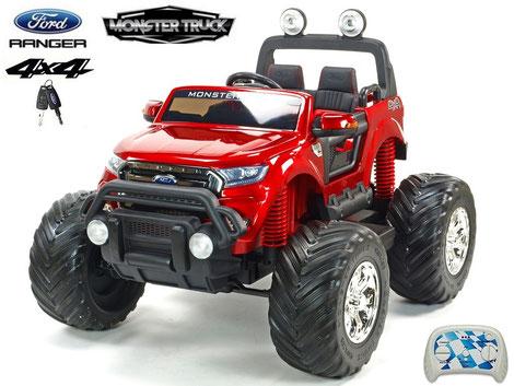Ford Ranger/Monster Truck/Allrad/4WD/Kinderauto/Kinder Elektroauto/Kinder Auto/weinrot lackiert/lizensiert/