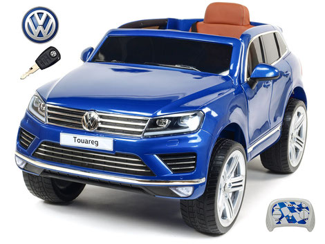 VW/Touareg/Kinderauto/Kinder Elektroauto/Kinderautos/Kinder Elektroautos/Kinder Auto/blau lackiert/lizensiert/