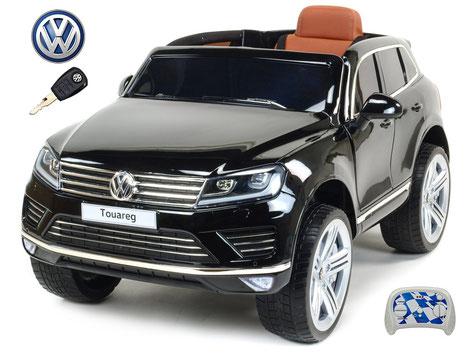 VW/Touareg/Kinderauto/Kinder Elektroauto/Kinderautos/Kinder Elektroautos/Kinder Auto/schwarz lackiert/lizensiert/