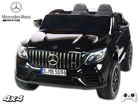 Mercedes/AMG GLC63 S/2 Sitzer/Kinderauto/Kinder Elektroauto/lizensiert/schwarz lackiert/