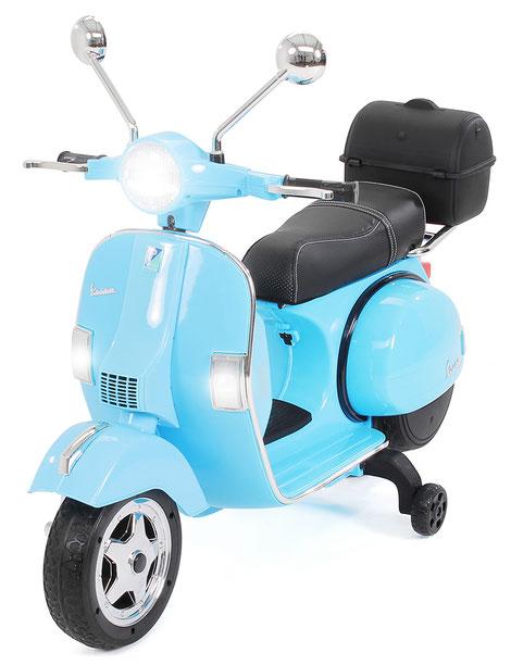 Vespa PX150/Kinder Elektroroller/blau/Kinder Motorrad/Kinder Motorräder/Kinderauto/Kinder Elektroauto/Kinderautos/Kinder Elektroautos/Kinder Fahrzeuge/