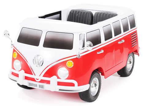 VW/VW Bus/ Bulli T1/Samba Camper/2-Sitzer/Kinderauto/Kinder Elektroauto/Kinderautos/Kinder Elektroautos/Kinder Auto/rot/lizensiert/