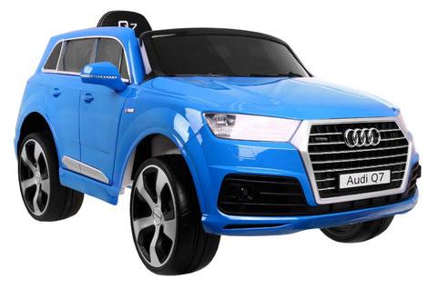 Audi Q7 2019/2x 45Watt/Kinderauto/Kinder Elektroauto/blau lackiert/lizensiert/