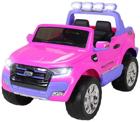 Ford Ranger 2018/Luxus 2.0/Touchscreen/Kinderauto/Kinder Elektroauto/Kinderautos/Kinder Elektroautos/Kinder Auto/pink/rosa/lizensiert/