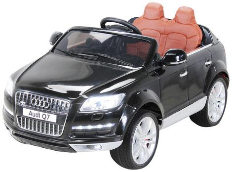 Audi Q7 SUV Doppelsitzer/Kinderauto/Kinder Elektroauto/Kinderautos/Kinder Elektroautos/Kinder Auto/schwarz/lizensiert/