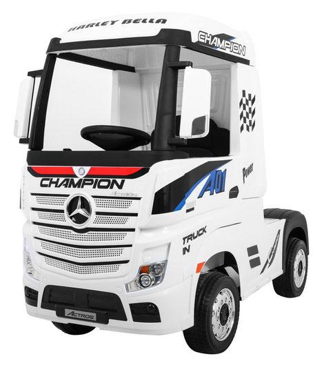 Mercedes/Actros/LKW/Sattelzugmaschine/2 Sitzer/Kinder LKW/Kinderauto/Kinder Elektroauto/lizensiert/weiß/
