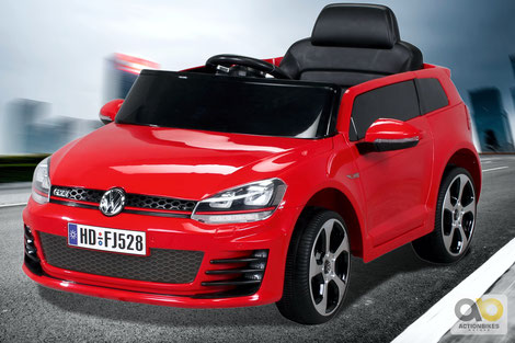 VW/Golf GTI/Kinderauto/Kinder Elektroauto/Kinderautos/Kinder Elektroautos/Kinder Auto/rot/lizensiert/