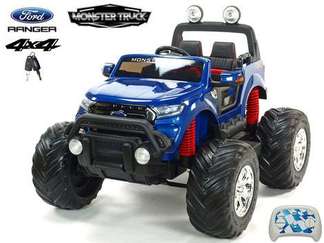 Ford Ranger/Monster Truck/Allrad/4WD/Kinderauto/Kinder Elektroauto/Kinder Auto/blau lackiert/lizensiert/