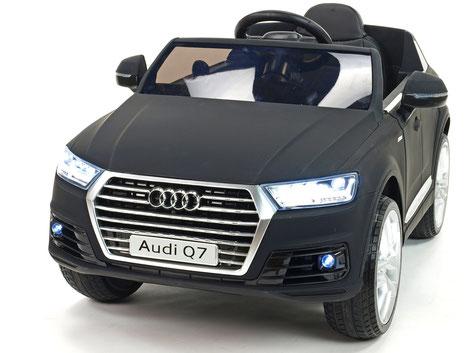 Audi Q7/2020/2x 45Watt/Kinderauto/Kinder Elektroauto/matt schwarz lackiert/lizensiert/