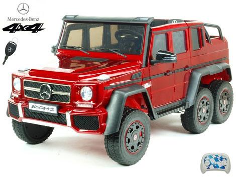 Mercedes/XXL/AMG G63/2 Sitzer/Kinderauto/Kinder Elektroauto/lizensiert/weinrot lackiert/4x45W/