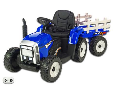 Traktor/Anhänger/2x45W/Kinder Baufahrzeug/Kinderauto/Kinder Elektroauto/Kinder Fahrzeug/blau/