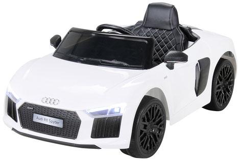 Audi R8 Spyder 2018/2x 45Watt/Kinderauto/Kinder Elektroauto/Kinderautos/Kinder Elektroautos/Kinder Auto/weiss/lizensiert/