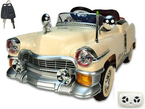 Kuba Retro/Kinderauto/Kinder Elektroauto/Kinderautos/Kinder Elektroautos/Kinder Fahrzeuge/beige/Kinder Auto/