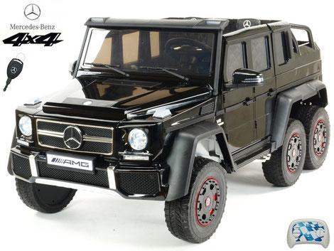 Mercedes/XXL/AMG G63/2 Sitzer/Kinderauto/Kinder Elektroauto/lizensiert/schwarz lackiert/4x45W/