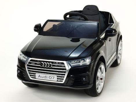 Audi Q7/2020/2x 45Watt/Kinderauto/Kinder Elektroauto/schwarz lackiert/lizensiert/