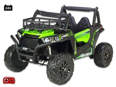 UTV Buggy XXL Super Muster 1000R/24V/Kinderbuggy/Kinderauto/Kinder Elektroauto/2 Sitzer/grün/