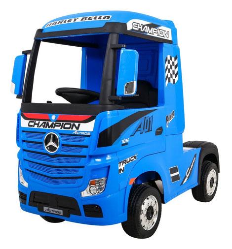 Mercedes/Actros/LKW/Sattelzugmaschine/2 Sitzer/Kinder LKW/Kinderauto/Kinder Elektroauto/lizensiert/blau/