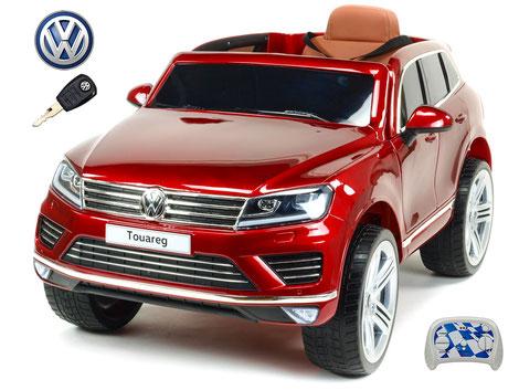 VW/Touareg/Kinderauto/Kinder Elektroauto/Kinderautos/Kinder Elektroautos/Kinder Auto/weinrot lackiert/lizensiert/