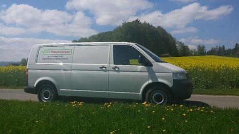 Servicefahrzeug Zbinden Pumpenservice, Bleiken, Kanton Bern