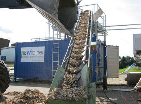 сушка Neweco Tec для щепы, опилок, стружки, отходов древесины