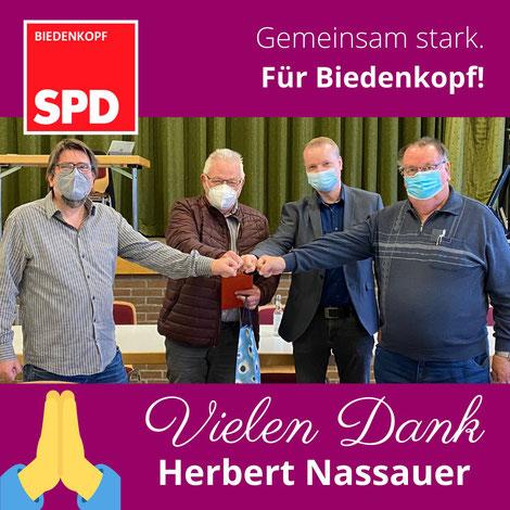 (v.l.): Christoph Schwarz, Herbert Nassauer, Mike Klotz und Heinz Funk