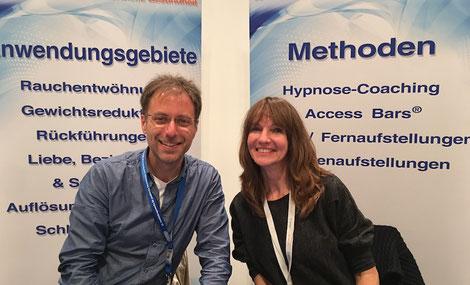 Steffi und Jörn - die Erfinder der Methode - auf den Naturheiltagen, Viernheim, Sept. 2017