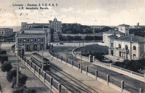 La stazione di Livorno Barriera Margherita, capolinea della ferrovia Livorno-Tirrenia-Pisa