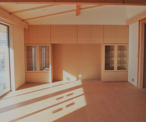 壁面収納 オーダー家具 木の家具 飾棚