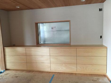 カップボード キッチン収納棚 オーダーメイド家具