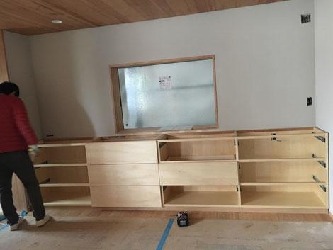 カップボード オーダーメイド家具 引出収納棚