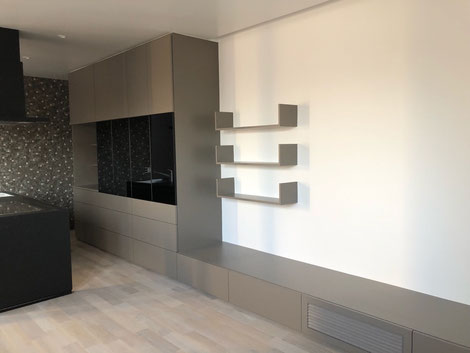 キッチン収納 テレビボード 壁面収納 オーダー家具