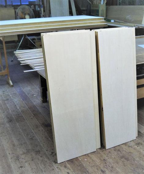 収納家具 間仕切り収納 シナ材 木の家具