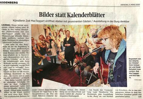 Künstlerin Zoë MacTaggart eröffnet Atelier mit prominenten Gästen