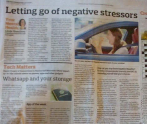 Kinsale CBT therapist Linda Hamilton's Southern Star column on letting go of stress.