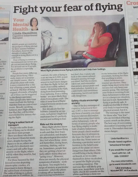 CBT and fear of flying column