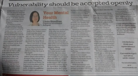 Linda Hamilton's Southern Star column on CBT and life skills.